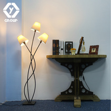 OYGROUP 3 Heads Modern Floor Lamp Contemporary Stylish Elegance In An  Antique Finish Beige Lampshade Lighting