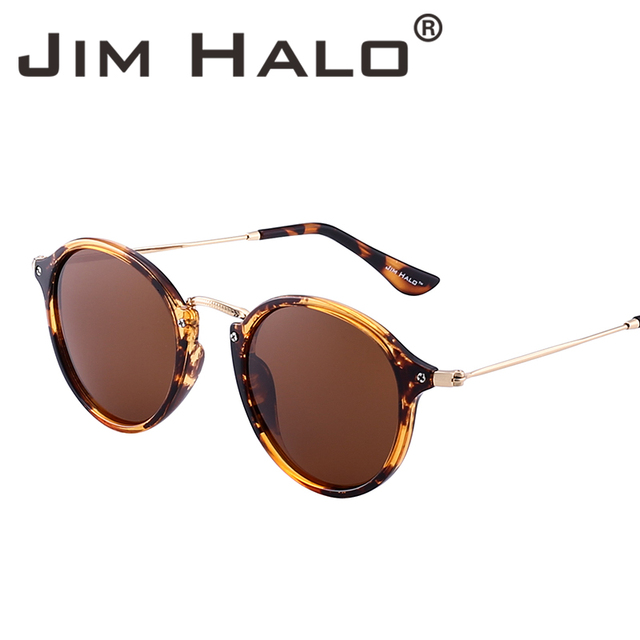 61ff66f2b67 Jim Halo Retro Polarized Small Tinted Oval Round Sunglasses Mirrored Circle  Lens Men Women Vintage Sun Glasses Fashion Oculos-in Sunglasses from  Apparel ...