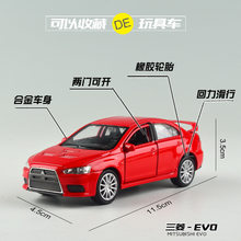 Brand New WELLY 1/36 Scale JAPAN Mitsubishi Lancer EVO Diecast Metal Pull Back Car Model Toy For Gift/Kids/Collection(China)