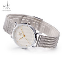 SK Stainless Steel Wristwatch Women Watches Top Brand Luxury Famous Quartz Watch For Female Clock Montre