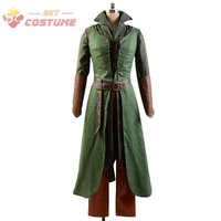Hot Movie Cosplay The Hobbit 2/3 Elf Tauriel Pleather Hoodies Pants Full Set Halloween Party Cosplay Costumes For Adult Women