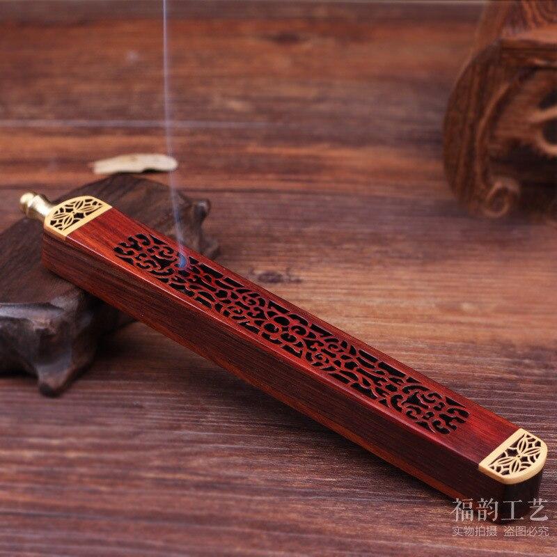 2018 Decoracion Hogar Japanese Acid Branch Car Plug Lie The Censer Joss Stick Box High Quality Pure Ebony Classical One Carving