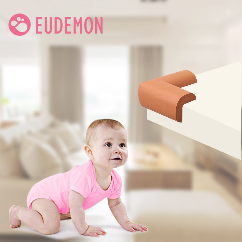 EUDEMON 8Pcs/lot 70*70mm Children Protection Corner Soft Table Desk 1cm Thick Children Safety Corner Baby Safety Edge Guards