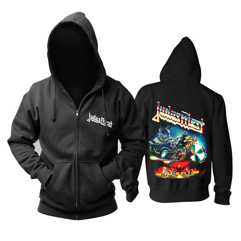 12 kinds Cool Blade Judas Priest Rock black hoodie Shell jacket punk Skull Demon metal sweatshirt zipper Sudadera 3D print