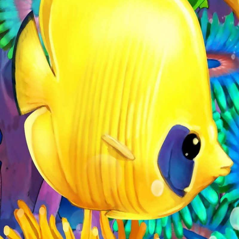 صور خلفيات 3D ستيريو الكرتون الاستوائية الأسماك تحت الماء العالم جدارية خلفية مخصصة غير خلفية قماش Papel دي Parede 3D