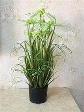 En gros et de détail 1 pc PVC Plastique Artificielle Vert Herbe Décor Plante Pour Chambre Jardin Patio 75 cm