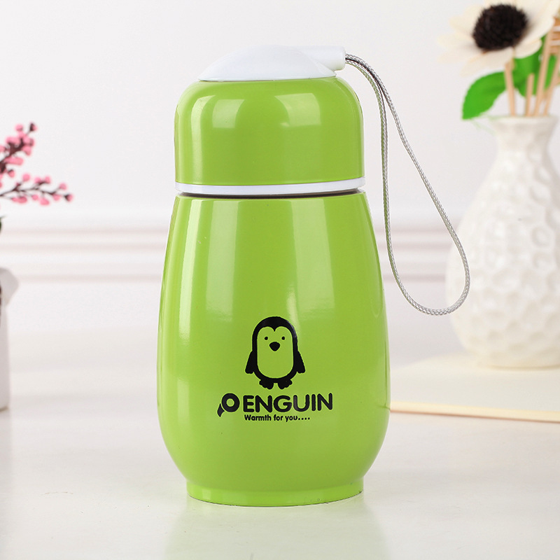 300ML Japanese Penguin Stainless steel Thermos water bottle Drinking bottle for water my bootle four colors thermomug