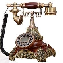 Европейский стиль стационарный телефон винтажный домашний стационарный телефон домашний Корт из смолы бордовый Ретро land line телефоны Проводные