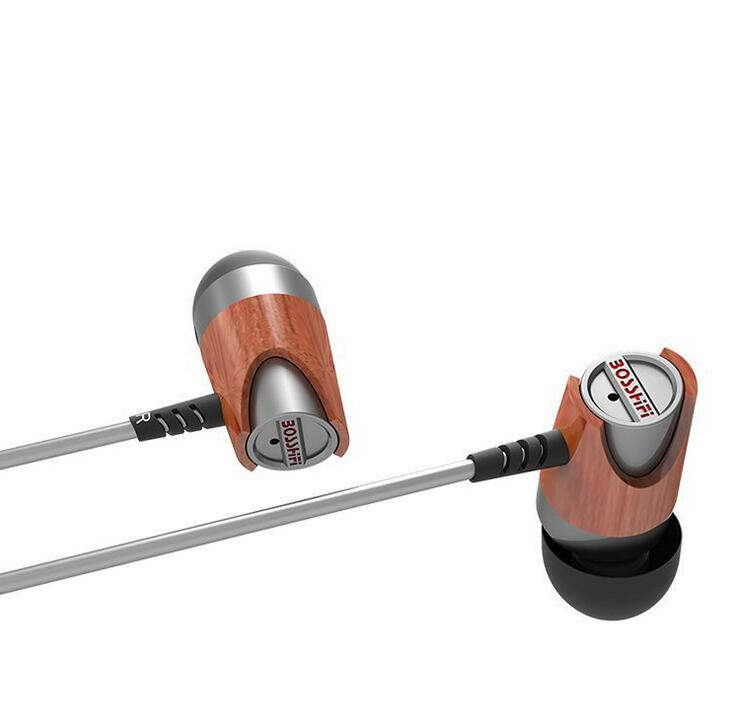 bosshifi b3s dynamic and armature wood earbuds hifi red moving iron BLON BOSSHIFI B3S Dynamic and Armature 2 unit Wood Earbuds HIFI Red Wooden  Moving Iron&Coil  In Ear Earphone B3S Wooden Headset