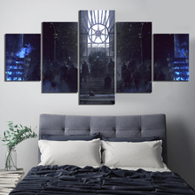 лучшая цена 5 Piece The Night King A Song of Ice and Fire Game of Thrones Movie Poster Canvas Paintings Fantasy Wall Art for Home Decor