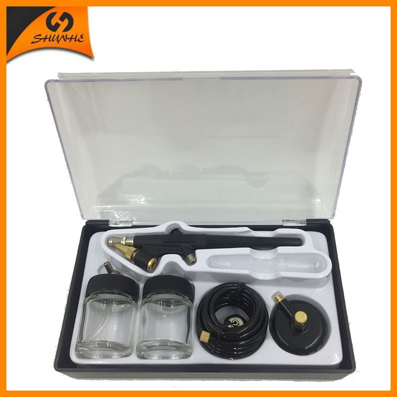 SAT5115 airbrush double action Kits Nozzle 0.8mm Air Brush Pressure Airbrush Tools Diy For Cake Painting Painting Mini Gun цена