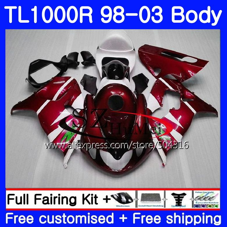 Motorcycle Accessories & Parts Generous Body For Suzuki Tl1000 R Tl 1000 R Tl1000r 98 99 00 01 02 03 41no.1 Tl 1000r 1998 1999 2000 2001 2002 2003 Fairings New Wine Red Non-Ironing