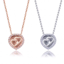 Crystal Heart Shape Pendant Necklaces Mutual Affinity for Women Fashion Jewelry Love Geometric Charm Necklace