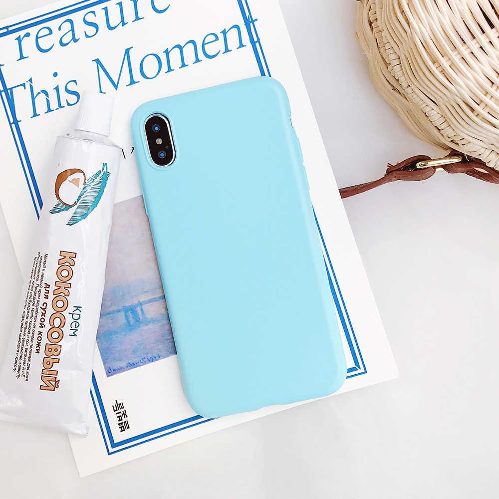 2019 急いフル Tpu 保護無地電話バックカバーケースギフトキャンディ Iphone Xs 最大 Xr 5 5 s 6 6 s 7 8 プラス