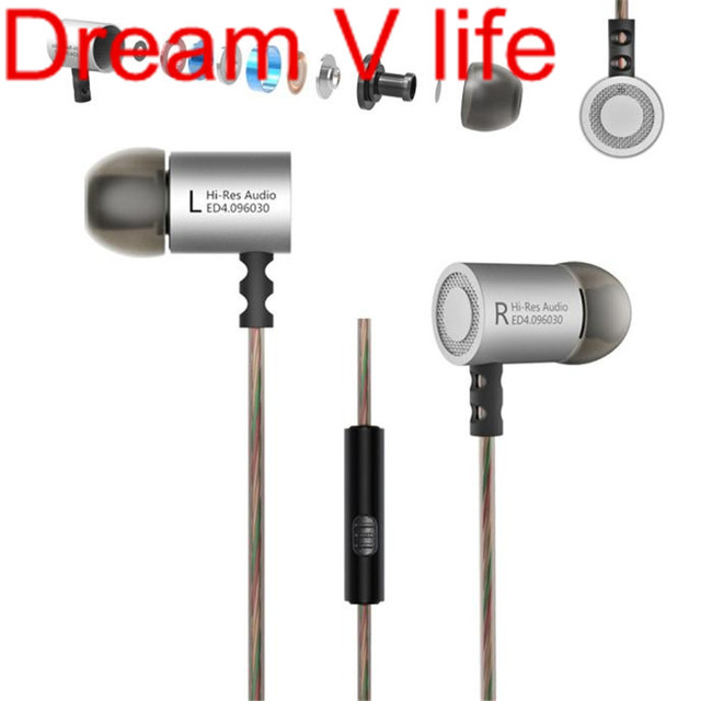 Dream V Life The Elegant Simple 1PC KZ-ED4 Subwoofer HIFI Earphone Headset Monitoring Ear Headphones With microphone Oct 15