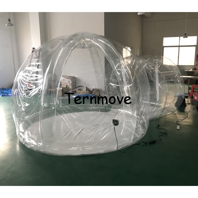 inflatable lawn camping tent with support,living outdoor waterproof promotion star canopy tent bubble hotel house for rental
