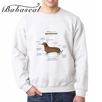 Babaseal Anatomy Of A Dachshund Print Letter Mens Graphic Hoodies Punk Tiger Sweatshirt Pink American Flag