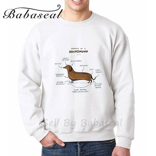 Babaseal anatomía de un Dachshund carta gráfica de los hoodies punk ...