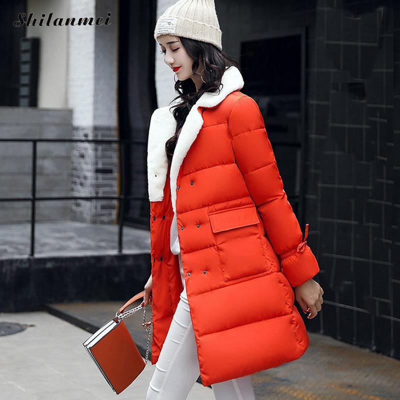 New 2017 Winter Coat Women Slim Pink Outwear Medium-Long Wadded Jacket Thick Hooded Army Green Cotton Wadded Warm Autumn Parkas new 2016 winter coat women slim plus size outwear medium long wadded jacket thick hooded cotton wadded warm cotton parkas