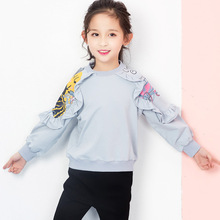 Girls clothes kidsT shirt 2019 spring and autumn new long-sleeved cotton 3-10 cartoon round neck children's clothing