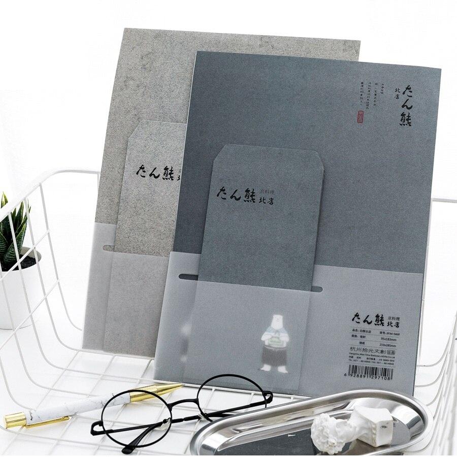 9 Pcs/Set 3 Envelopes+6 Letter Papers Kawaii Japanese White Bear Letter Envelope Set Korean Stationery Christmas Gift