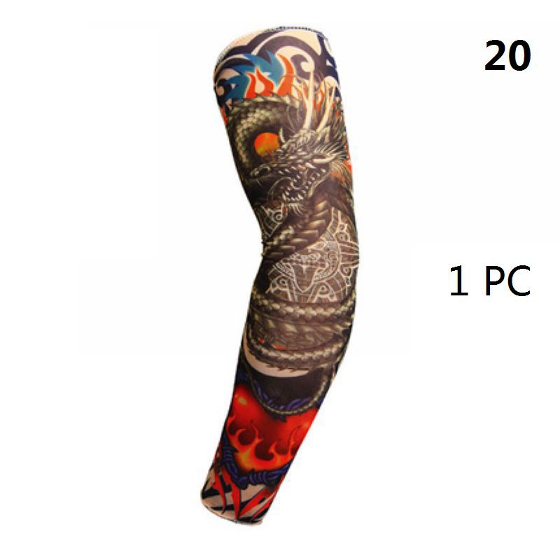 Arm Warmers for Women Tattoo Arm Sleeve Sun Block Nylon Baseball Digital Reusable Tattoos for Men Summer Casual Styles in Men 39 s Arm Warmers from Apparel Accessories