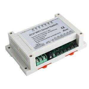 Image 5 - 4 Канальный Релейный приемник Wi Fi KTNNKG, 110 В переменного тока, 90 250 В и 12 В, Стандартный Универсальный базовый выключатель питания, беспроводной пульт дистанционного управления для умного дома