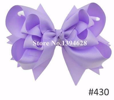 Твои банты 1 шт. 5 дюймов для девочек Однотонные бантики для волос Заколки для волос с бантом из ленты на каблуке высотой заколки для волос для детей Головные уборы Fastion женские аксессуары для волос - Цвет: 430lt purple