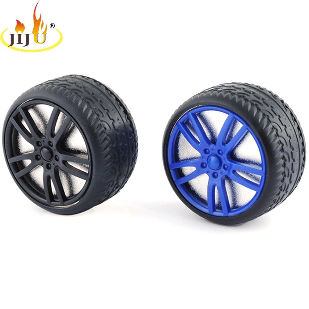 JIJU Tobacco Grinder Tire Style Plastic & Zinc Alloy Herb Weed Crusher 3 Layers Diameter 60mm Creative Design for Gift JL-091J