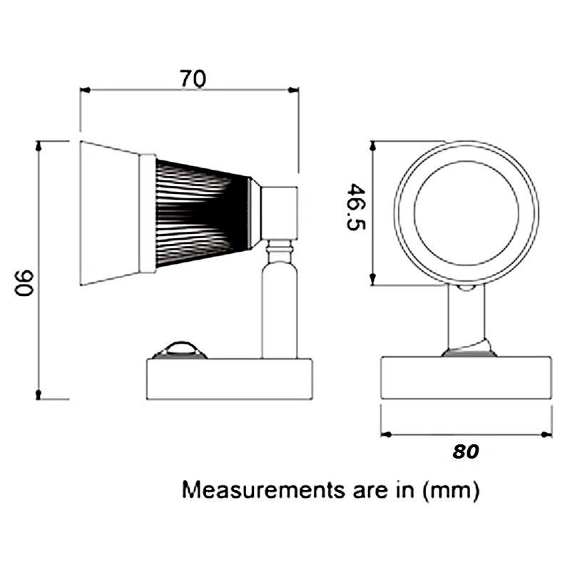 2X12VDC LED պտտվող ընթերցման թեթև թույն / - Ավտոմեքենայի լույսեր - Լուսանկար 3