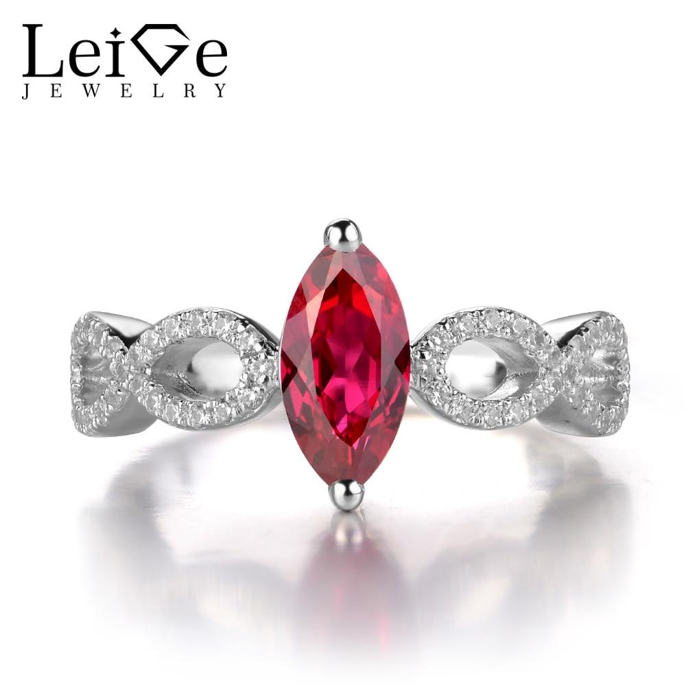 ᐊLeige Jewelry Ruby © Rings Rings Women Sterling Silver