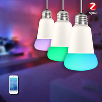 Smart Home Wireless WIFI E27 LED Bulb (Zigbee Version) RGBW Dimmable LED Light Bulb APP Remote Control 9W 750lm AC100 240V