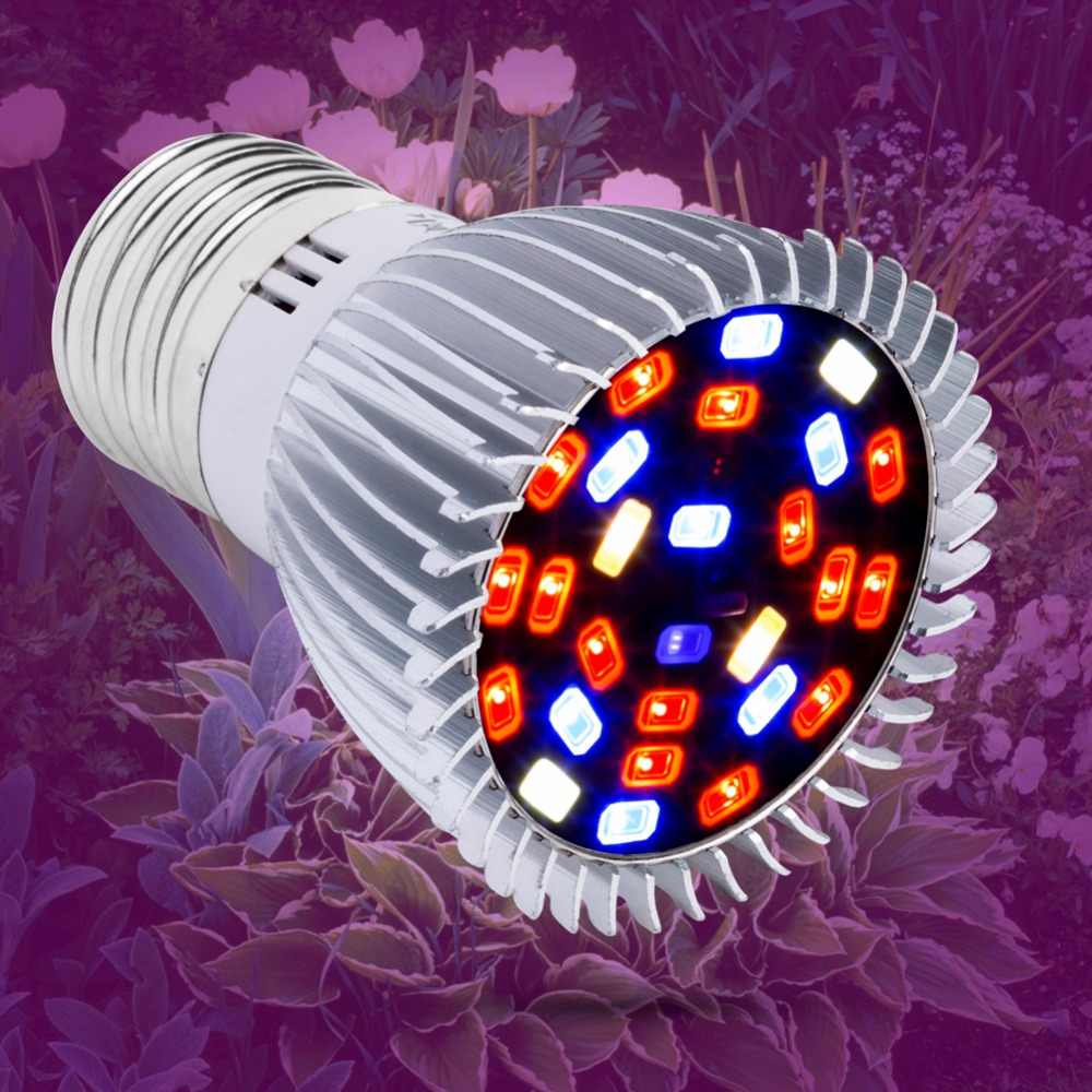 E27 LED Plant Growth Lamp 18W 28W E14 Full spectrum LED Grow Light 220V Growing LED Bulb Vegetables Phyto Lamp 110V Fitolampy