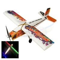 Night Devil Flying Plane Rubber Band Powered Glider EPP RC Airplane Foam Model LED Light Pre installed Wingspan 1000mm