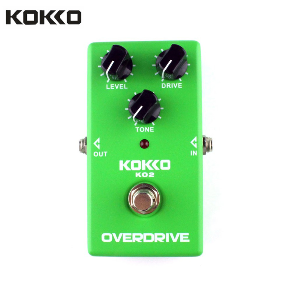 KOKKO KO2 Overdrive Effect Pedal for Guitar and Bass Durable Professional Processor Guitar Parts & Accessories klon centaur silver professional overdrive guitar effect pedal kit stomp box