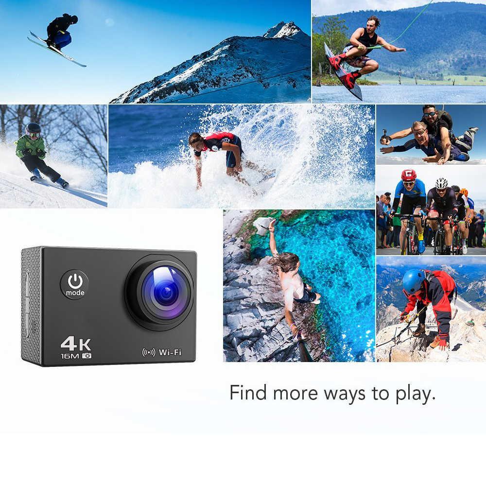 الترا HD 4K الرياضة عمل كاميرا 1080P واي فاي 16MP الذهاب الغوص برو كام مقاوم للماء الرياضة في الهواء الطلق DV DVR خوذة كاميرا التحكم عن بعد