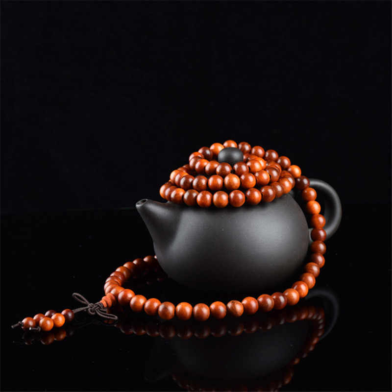 Сандаловые четки браслеты для женщин и мужчин ювелирные изделия из натурального дерева браслет из бисера homme