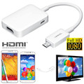 New style Micro hot MHL Micro USB to HDTV HDMI Adapter Cable For Samsung Galaxy S3 i9300 S4 i9500 Note 2