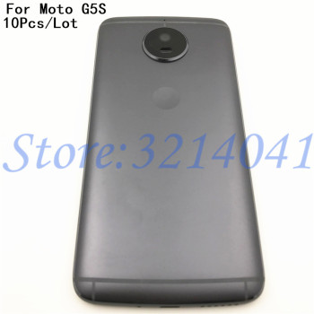 10Pcs/Lot Good quality Metal For Motorola Moto G5S XT1793 XT1794 Battery Back Cover With Logo+Camera Lens