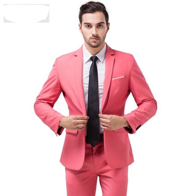 S-4xl 8 цветов корейский приталенный подходящие мужские костюмы свадьба жених мужчины платье костюм смокинг для мужчины куртка + брюки