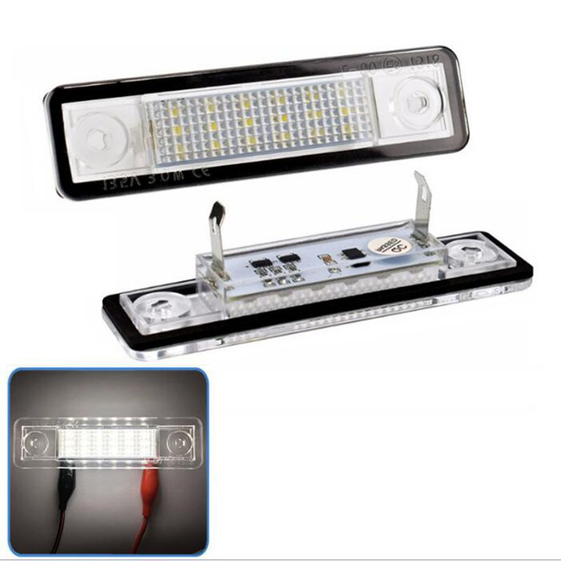 2PCS Opel LED Number License Plate Light WHITE Color For Astra G Astra F Corsa B Zafira A Omega A Free Shipment