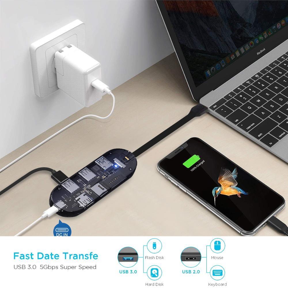 Image 3 - Docking Station for Desktop PC Experience Samsung Dex Pad S8/S8 Plus/S9/S9 Plus/Note 8/Note 9/Tab S4/Mate 20 P20 Pro USB C Hub-in Phone Docking Station from Cellphones & Telecommunications