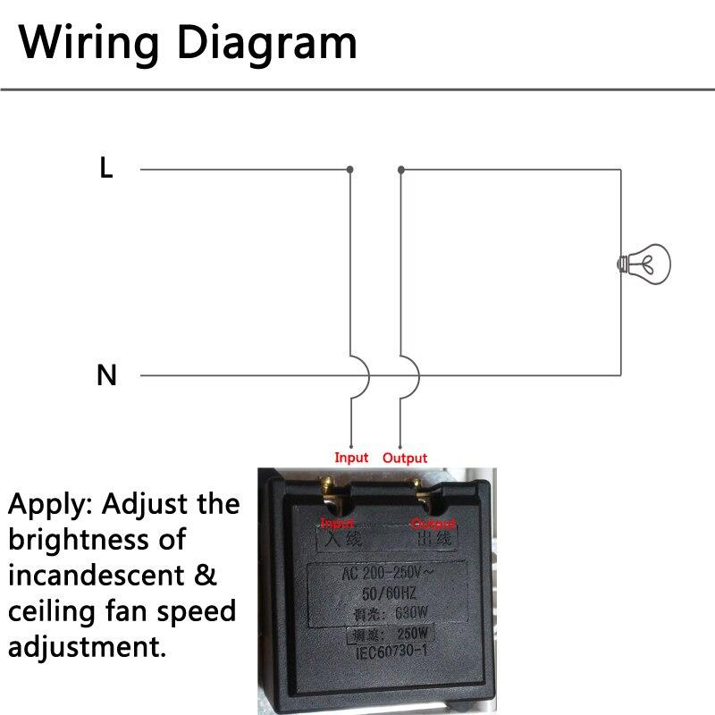 Wandschalter Glühlampen Licht Dimmen 630 Watt 220 V mit Schalter ...