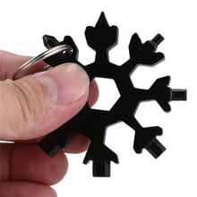 Purchase Creative 18-in-1 Multi-tool Card Combination Compact Outdoor Snowflake Tool New saleoff