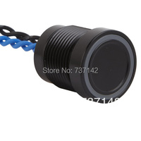 ELEWIND Black Aluminum Anodized Piezo Touch Switch 16mm PS165P10YBK1R24 Rohs CE