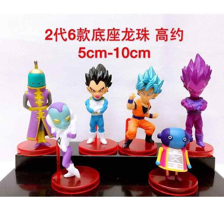 5 peças Dragon Ball Z Son Goku Vegeta Anime Action Figure PVC Nova Coleção figuras de Coleta de brinquedos para presente de Natal