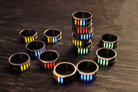 Anillos luminosos EDC de Gas tritio de tubo de tritio de aleación de titanio de 20mm regalos creativos
