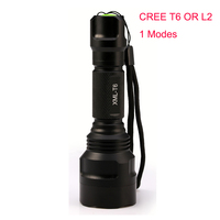 1 Mode C8 Led L2 Tactical Flashlight Cree XML T6 XM L2 Torch Led Waterproof Flash