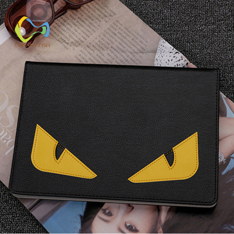 DREAM FISH 2018 New PU Leather Korean style angry eyes Cover for ipad mini 4 case Smart  ...