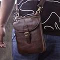 """8 """"Gancho Bolso de La Cintura Del Cuero Genuino de Los Hombres Bolsa de Viaje Ocasional de la Vendimia PEQUEÑOS Bolsos de Hombro Crossbody Bolsas"""